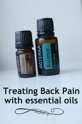 Treating Back Pain with essential oils
