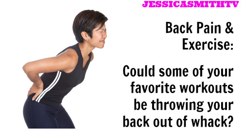 ... back pain, back pain after exercise, working out with back pain, back