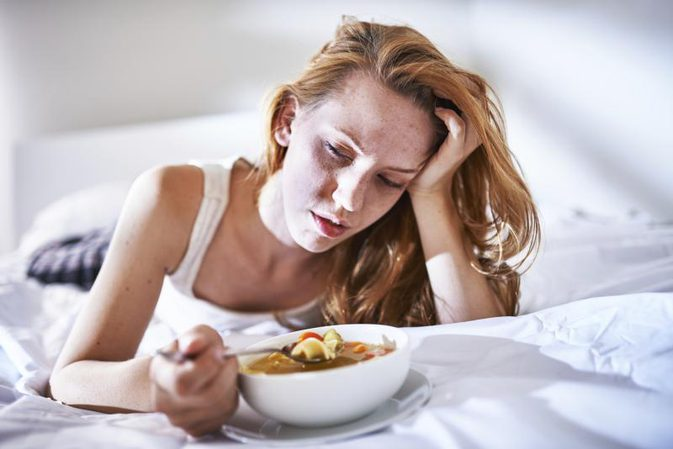 Pancreas pain can happen after eating. Photo Credit rez-art\/iStock ...