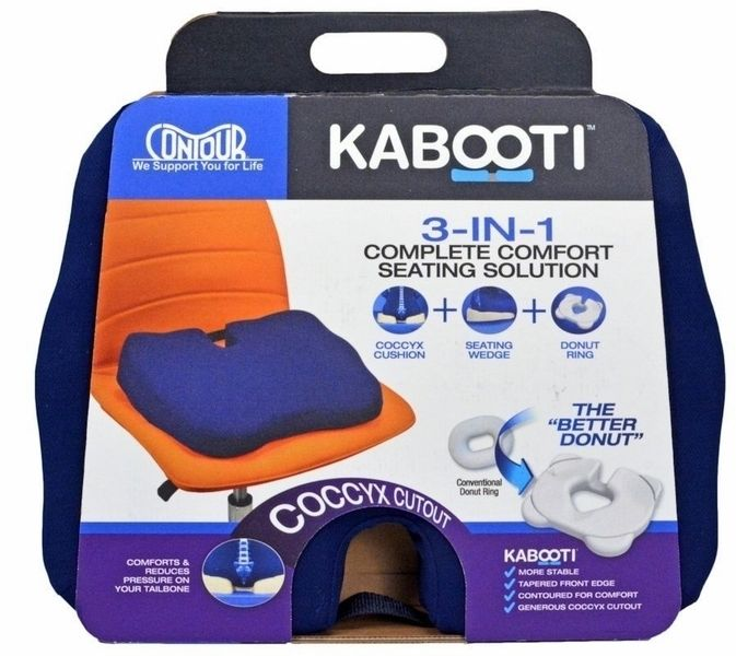... Contour Kabooti 3 in 1 Coccyx Cushion Seating Wedge Donut Ring - eBay