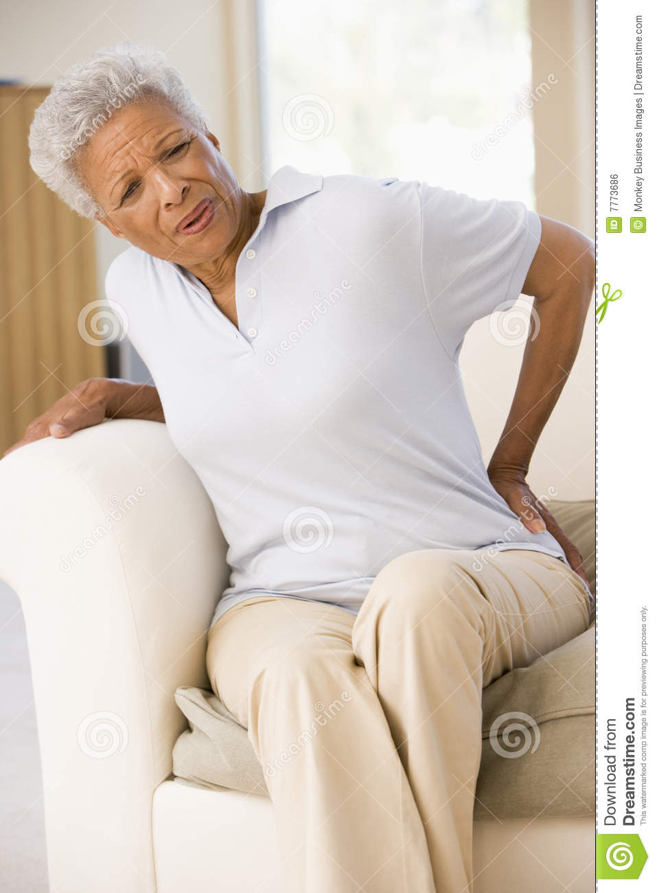 Woman With Back Pain Royalty Free Stock Image - Image: 7773686