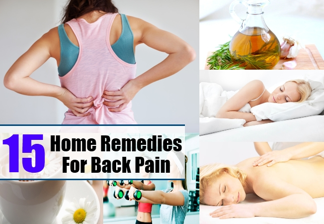 Home Remedies For Back Pain - Natural Treatments