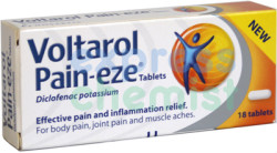Voltarol Pain-Eze Tablets 18 - ExpressChemist.co.uk - Buy Online
