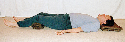 If all else fails, savasana can be done while lying on ones side with ...