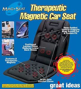 ... Magnetic Lumbar Support Seat CUSHION *Backache Lower Back PAIN* - eBay