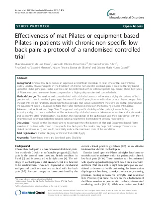 Mat Pilats and Pilats Equipment for patients with low back pain