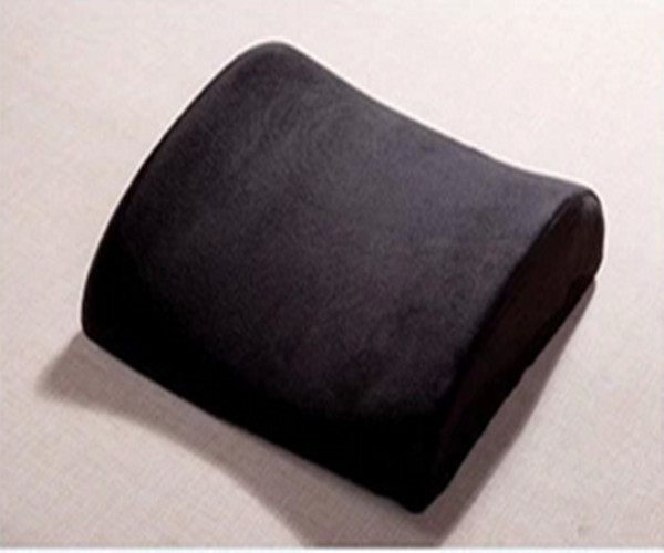 Black Lumbar Cushion Car Pillow Seat Support Back Pain Wedge Car Seat ...