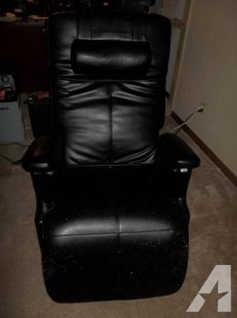 Black Leather Zero Gravity Back Pain Power Recliner Chair for sale in ...