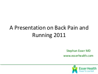 Running and back pain 2011