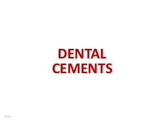 Dental cement dental material