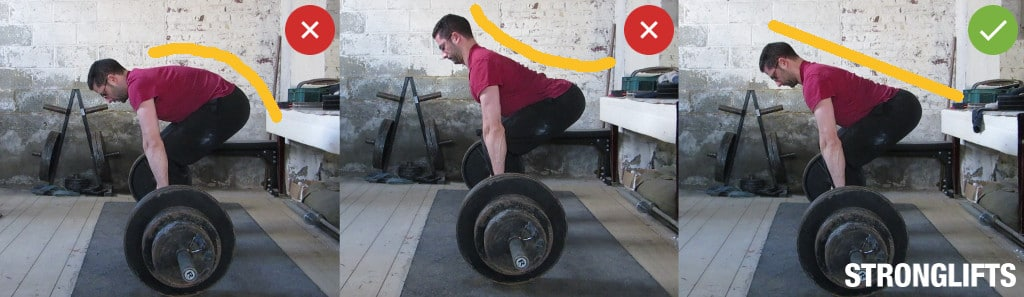 ... back pain on Deadlifts. The correct way to Deadlift is with a neutral