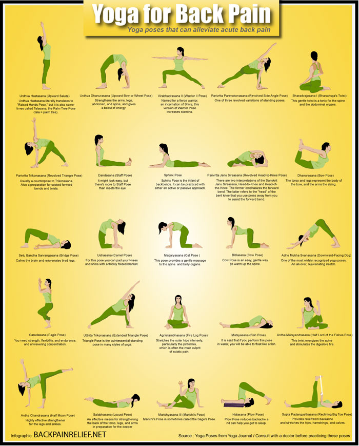 Yoga Asanas for Chronic Back Pain Relief! (Infographic)