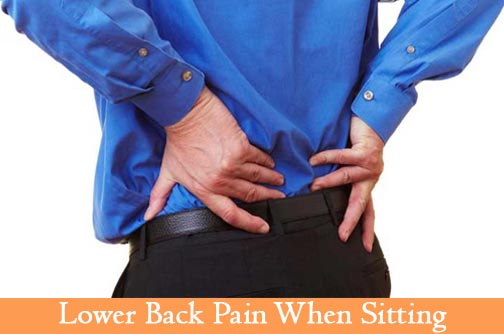 Lower Back pain When sitting: Causes and Treatments