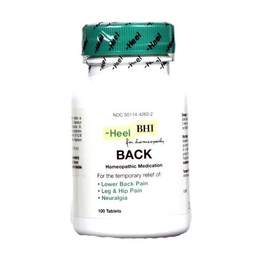 MediNatura BHI Back Pain Relief - 100 Tablets - eVitamins.com