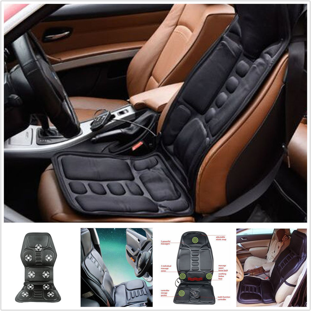 Heated Back Chair Cushion Car Seat Home Pad Pain Lumbar Neck Shoulder ...