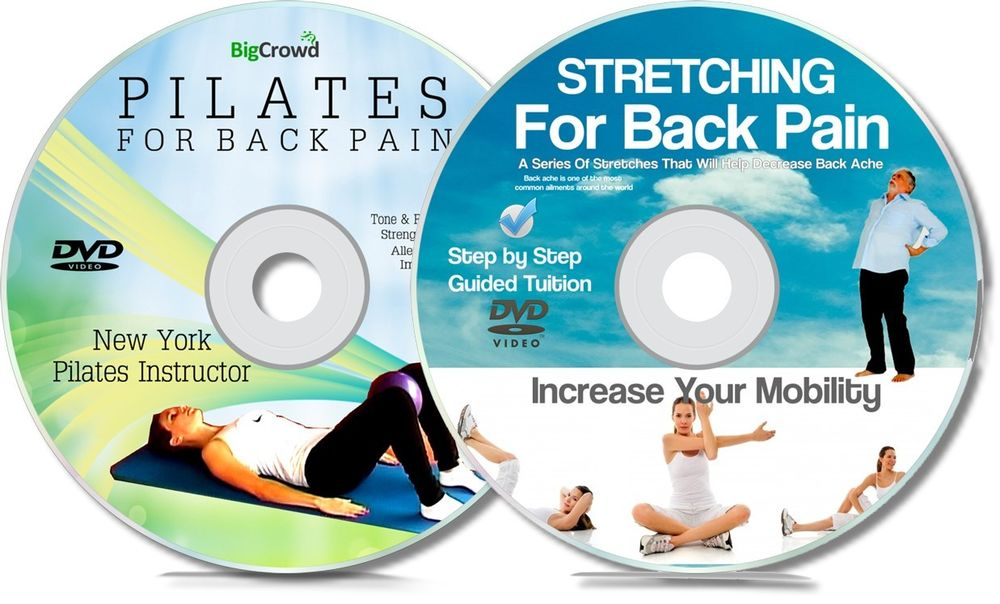 Back Pain Double DVD Set - Get Help For Your Back Ache With Pilates ...