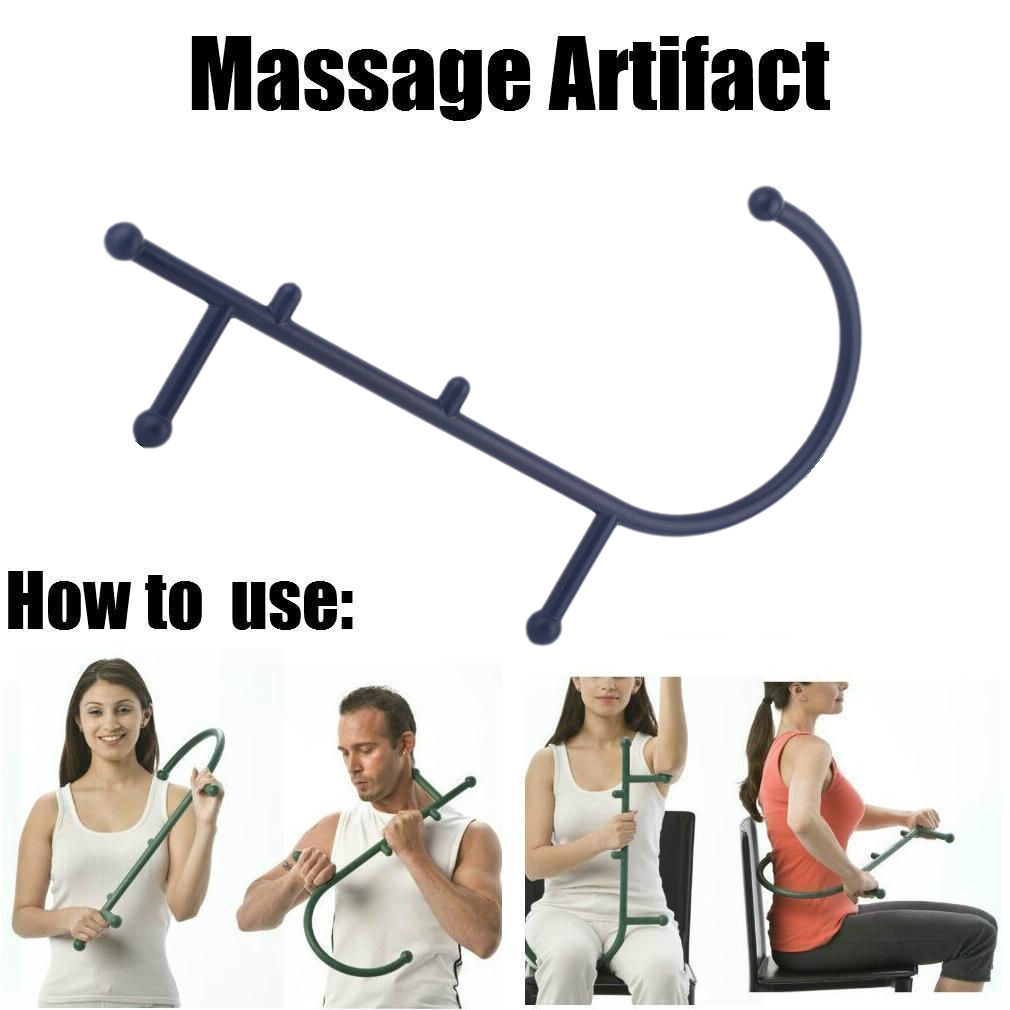 ... Hook Massager Back Body Pain Massage Trigger Point Tool Muscle Relief