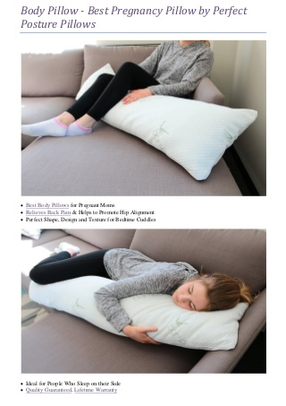 Body Pillow - Best Pregnancy Pillow by Perfect Posture Pillows