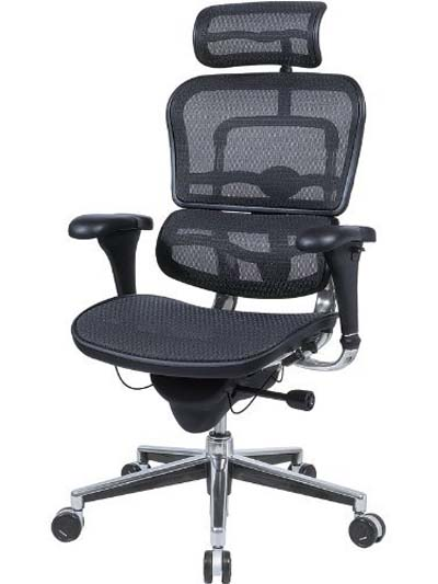... office-chair-for-lower-back-pain-Ergohuman-Black-Mesh-Hi-Swivel-Chair