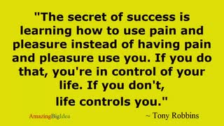 Motivational Quote to Use Pleasure and Pain Tony Robbins