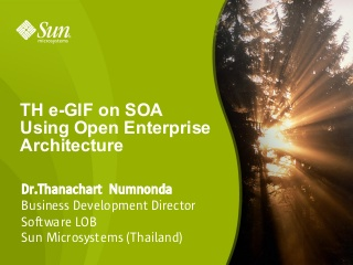 TH e-GIF on SOA Using Open Enterprise Architecture