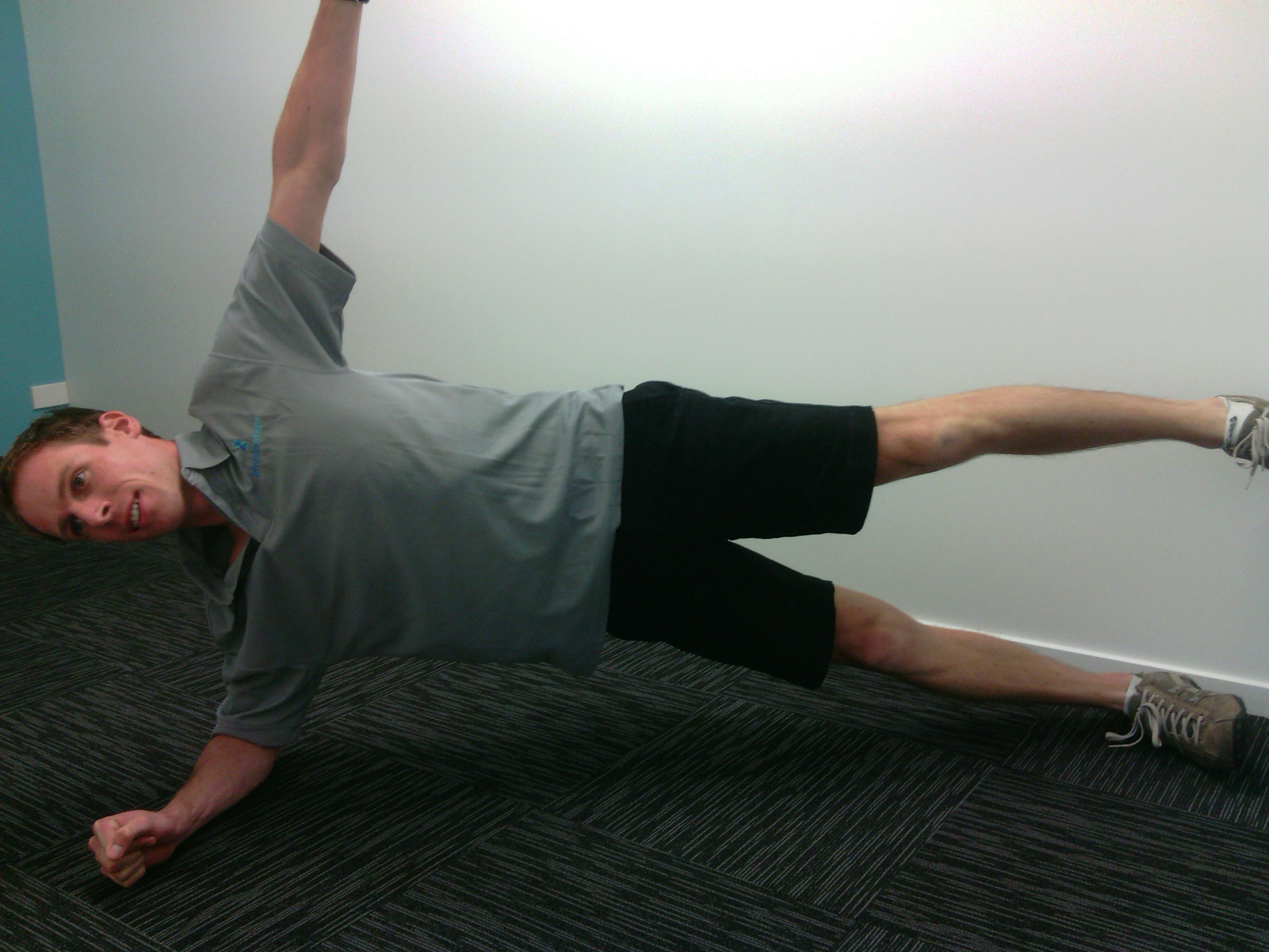 When you can hold a straight side plank comfortably for a minute, step ...