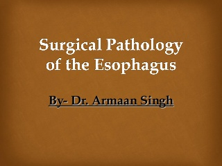Surgical pathology of the esophagus