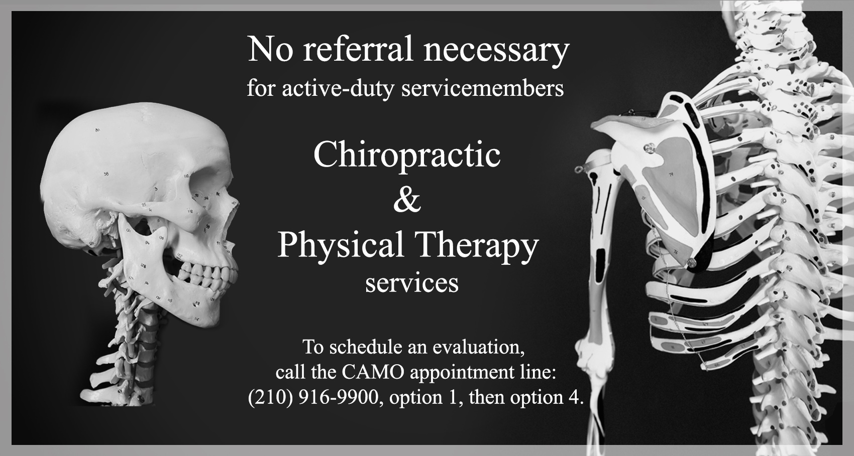 No referral necessary at chiropractic, physical therapy clinics