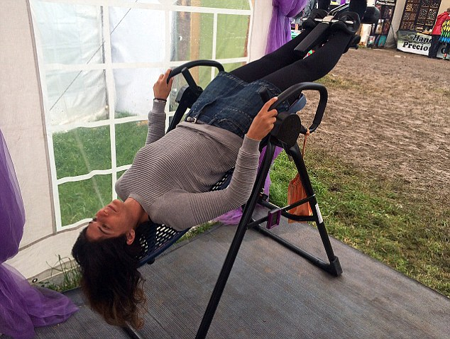 Naomi at 45 degrees: Lying flat only releases 75 per cent of standing ...