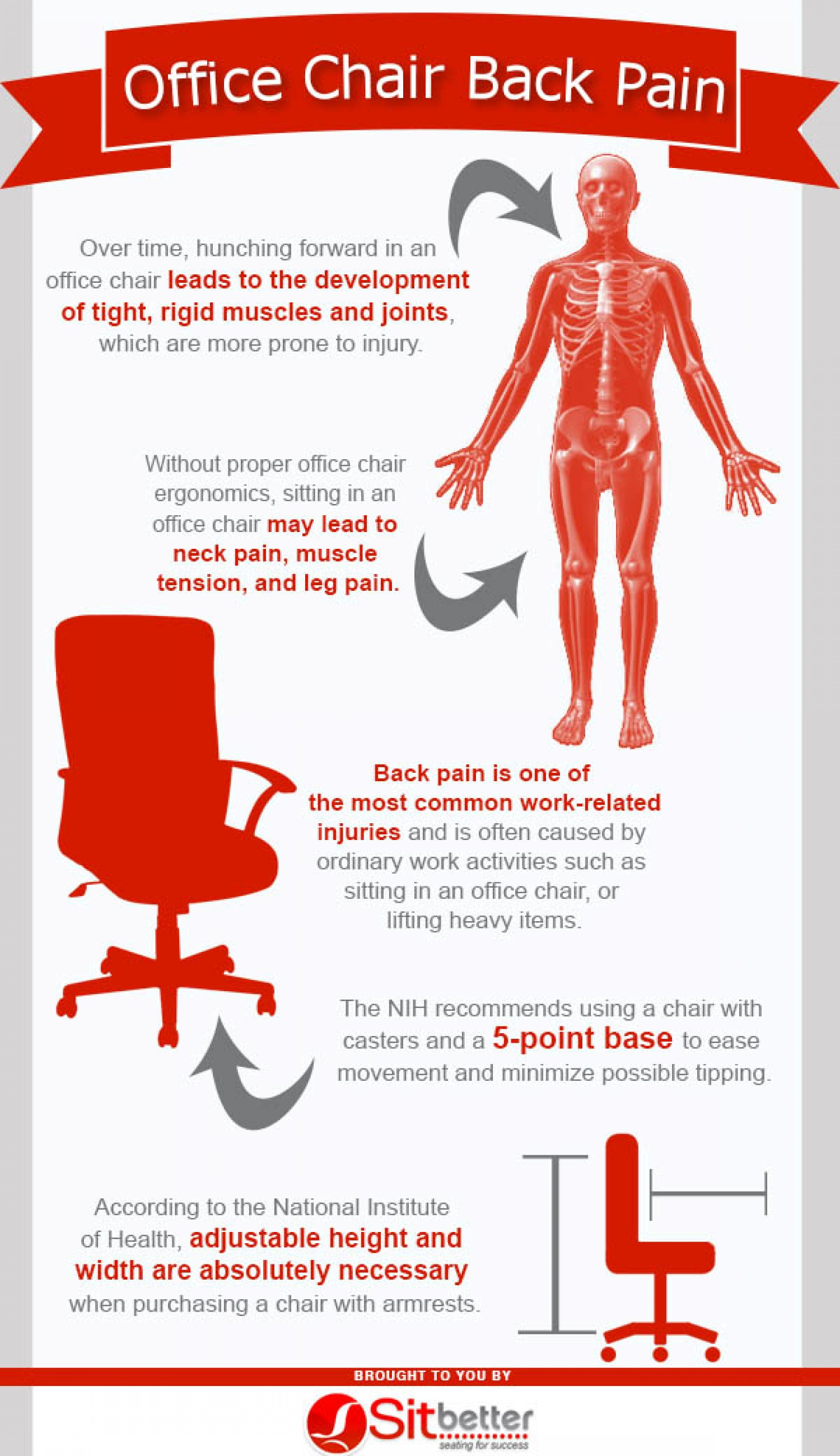 Office Chair Back Pain Infographic