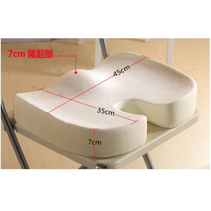 ... Memory Foam Seat Cushion Office Chair Seat Back Pain Relief Q - eBay