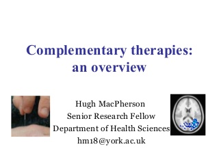 Complementary Therapies Yrmg July 2008 For Handouts