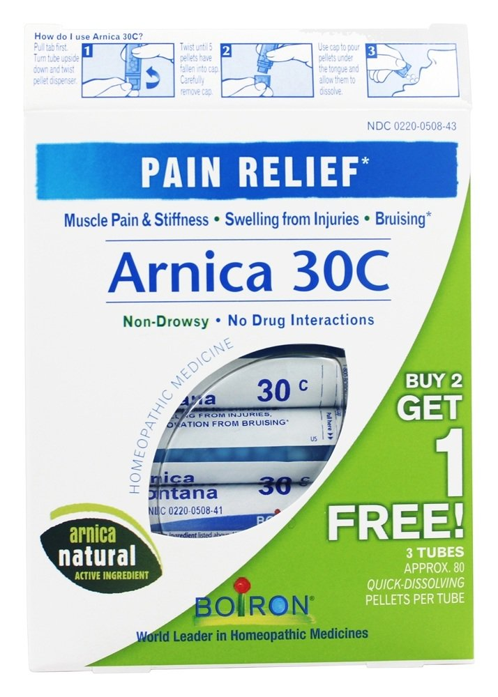Boiron - Arnica 30c Pain Relief Pellets Buy 2 Get 1 Free Value Pack 3 ...
