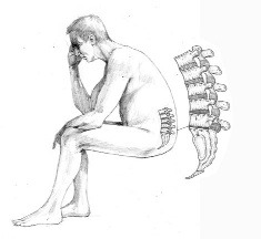 back pain with sitting - caused by fluid loss