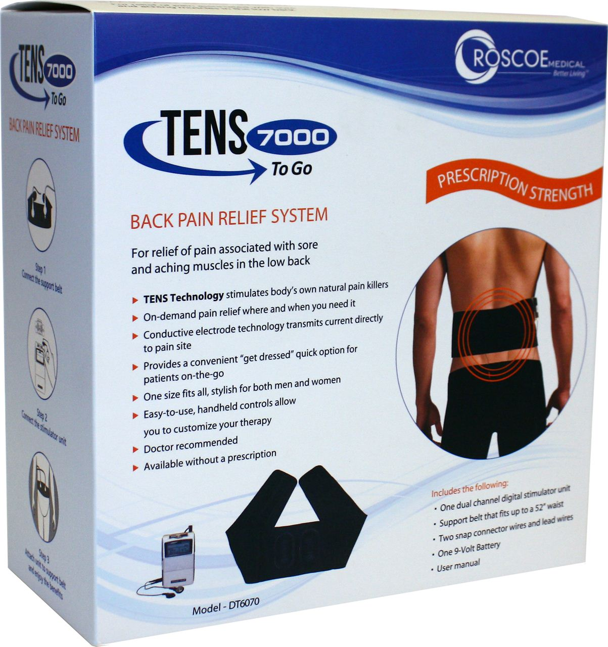 ... West. TENS 7000 to Go Back Pain Relief System - Home Wellness West