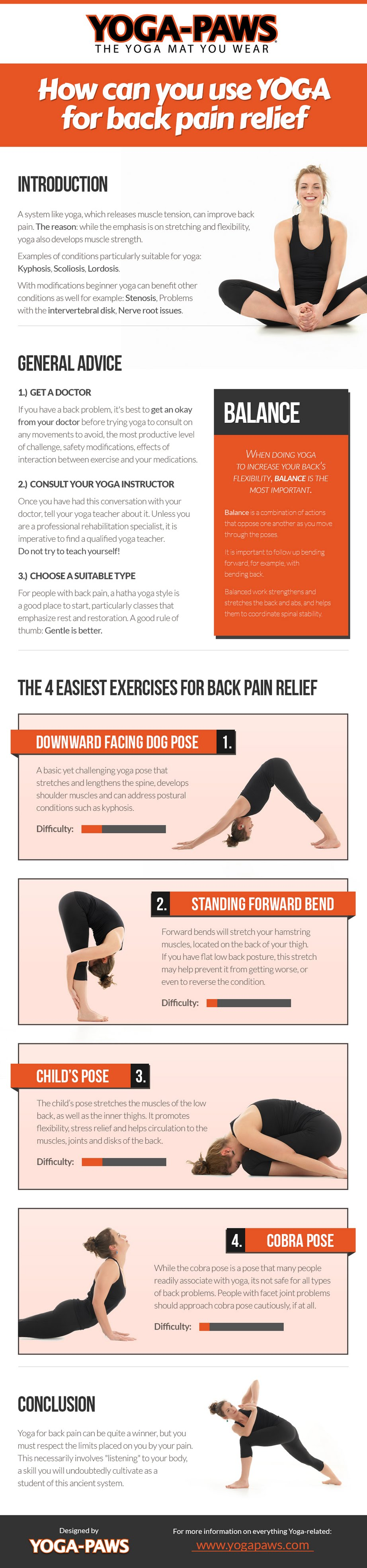 How You Can Use Yoga For Back Pain Relief Health Infographics - Apps ...