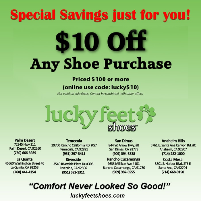 Online Shoes Coupon - Lucky Feet Shoes in Rancho Cucamonga, Riverside ...