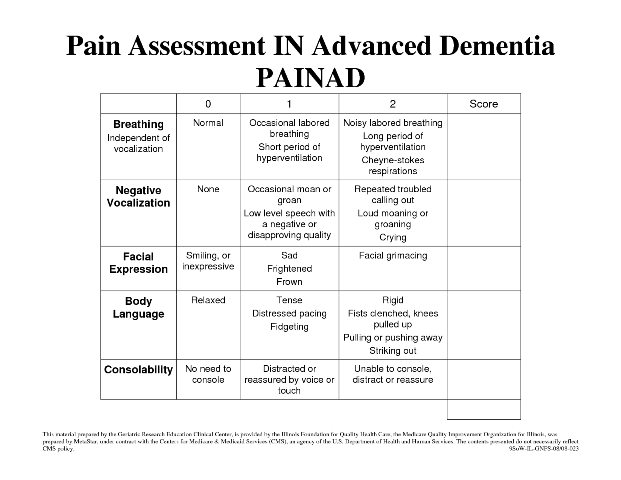 functional assessment tools functional balance grades tool pain scale ...