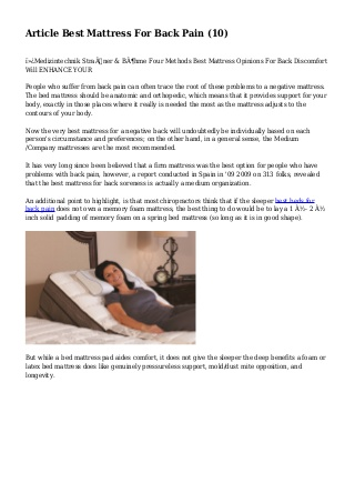 Article Best Mattress For Back Pain (10)