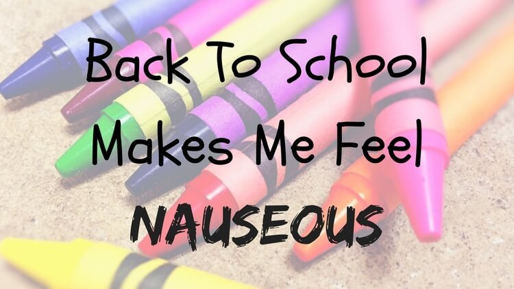 Back To School Makes Me Nauseous - Just Playing House