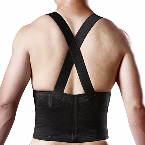 Brace Lumbar Support Belt Adjustable Straps Pain Relief For Women Men ...