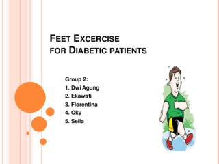 Feet excercise for diabetic patients