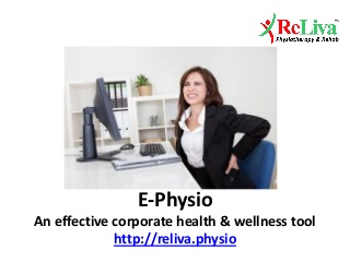 E physio for corporate health wellness