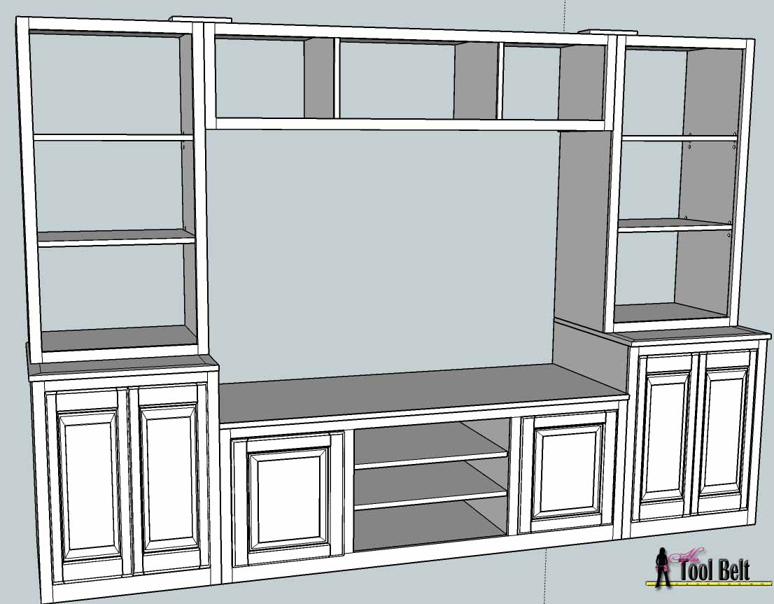 ... (PB media center plan) Bookshelves - Toys, Media center and The plan