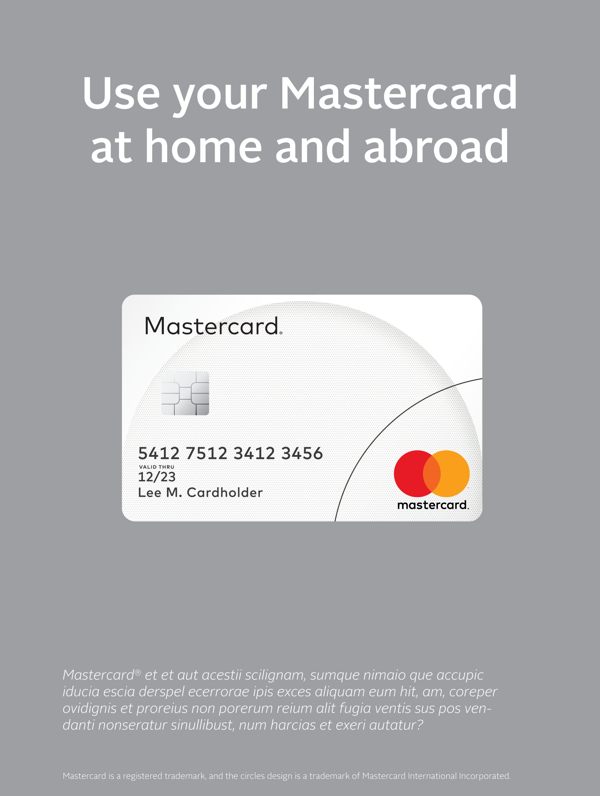 ... of using the Mastercard logo on cards in a marketing communication
