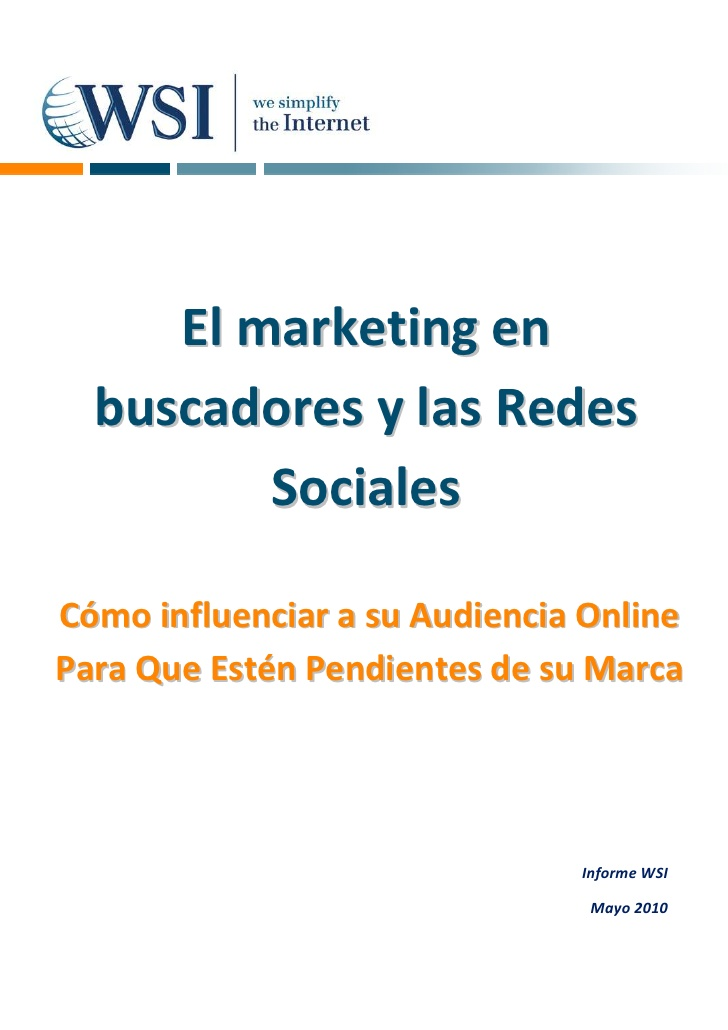 El marketing en buscadores y las Redes SocialesC