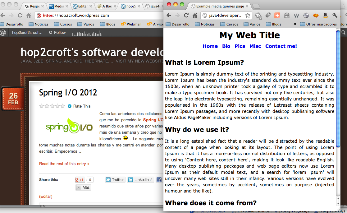 Mobile development with CSS3 Media Queries and JQuery Mobile ...