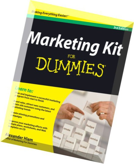 Download Marketing Kit for Dummies, 3rd Edition by Alexander Hiam ...