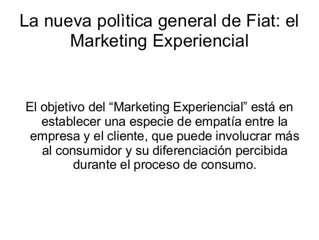 ... el paradigma dominante del marketing actual el marketing experiencial