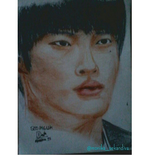 Seo In Guk face skecth fan...